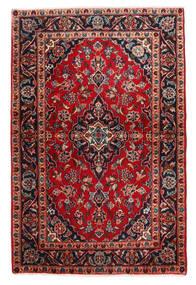 Keshan Vloerkleed 98X148 Echt Oosters Handgeknoopt Donkerbruin/Donkerrood (Wol, Perzië/Iran)