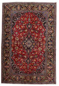 Keshan Vloerkleed 140X210 Echt Oosters Handgeknoopt Donkerrood (Wol, Perzië/Iran)