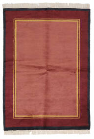 Gabbeh Indiaas Vloerkleed 137X196 Echt Modern Handgeknoopt Rood/Donkerrood (Wol, India)