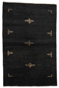 Huttan Vloerkleed 99X155 Echt Oosters Handgeknoopt Zwart (Wol, Pakistan)