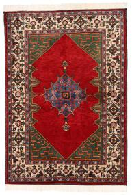 Kazak Vloerkleed 137X198 Echt Oosters Handgeknoopt Donkergrijs/Roestkleur (Wol, Pakistan)