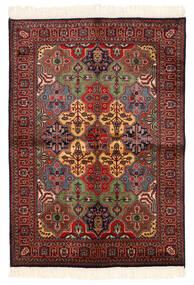 Kazak Vloerkleed 135X192 Echt Oosters Handgeknoopt Donkerrood/Zwart (Wol, Pakistan)