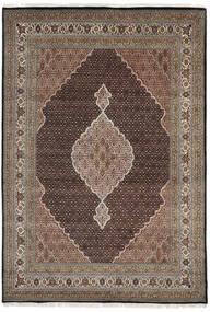 Tabriz Royal Vloerkleed 235X340 Echt Oosters Handgeknoopt Donkergrijs/Lichtgrijs ( India)
