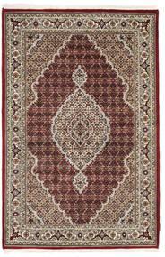 Tabriz Royal Vloerkleed 123X185 Echt Oosters Handgeknoopt Lichtgrijs/Donkerbruin ( India)