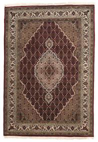 Tabriz Royal Vloerkleed 141X205 Echt Oosters Handgeknoopt Donkerrood/Lichtgrijs ( India)