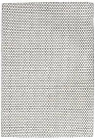 Kelim Long Stitch - Cream/Zwart Vloerkleed 160X230 Echt Modern Handgeweven Lichtgrijs/Beige (Wol, India)