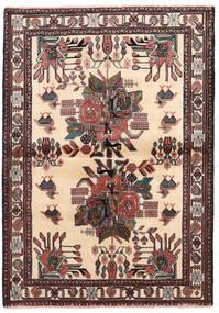 Afshar/Sirjan Vloerkleed 102X144 Echt Oosters Handgeknoopt Beige/Zwart (Wol, Perzië/Iran)