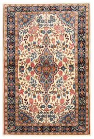 Sarough Vloerkleed 100X149 Echt Oosters Handgeknoopt Donkerbruin/Donkerbeige (Wol, Perzië/Iran)