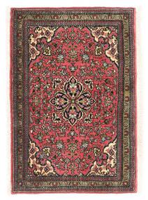 Ghom Kork/Zijde Vloerkleed 58X85 Echt Oosters Handgeknoopt Wit/Creme/Zwart (Wol/Zijde, Perzië/Iran)