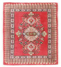 Kashmar Vloerkleed 75X84 Echt Oosters Handgeknoopt Donkerrood/Rood (Wol, Perzië/Iran)