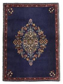 Keshan Vloerkleed 68X96 Echt Oosters Handgeknoopt Donkerpaars/Donkerbruin (Wol, Perzië/Iran)