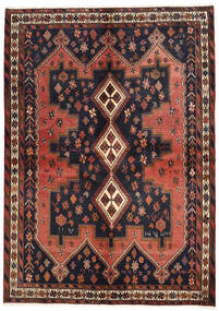 Afshar Vloerkleed 160X225 Echt Oosters Handgeknoopt Donkergrijs/Donkerrood (Wol, Perzië/Iran)