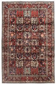 Bakhtiar Vloerkleed 207X322 Echt Oosters Handgeknoopt Donkerrood/Bruin (Wol, Perzië/Iran)