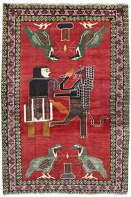Ghashghai Vloerkleed 124X195 Echt Oosters Handgeknoopt Rood/Donkergrijs (Wol, Perzië/Iran)