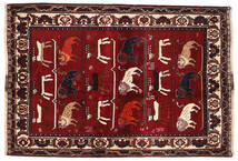 Ghashghai Vloerkleed 127X186 Echt Oosters Handgeknoopt Donkerrood/Donkerbruin (Wol, Perzië/Iran)