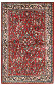 Sarough Vloerkleed 132X206 Echt Oosters Handgeknoopt Donkerrood/Beige (Wol, Perzië/Iran)