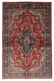Ghom Kork/Zijde Vloerkleed 139X212 Echt Oosters Handgeknoopt Donkerrood/Zwart (Wol/Zijde, Perzië/Iran)