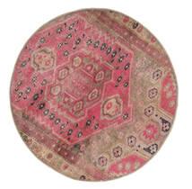 Vintage Heritage Vloerkleed Ø 100 Echt Modern Handgeknoopt Rond Bruin/Roze (Wol, Perzië/Iran)