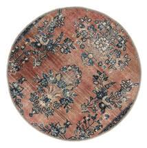 Vintage Heritage Vloerkleed Ø 100 Echt Modern Handgeknoopt Rond Lichtbruin/Zwart (Wol, Perzië/Iran)