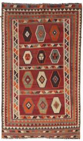 Kelim Vintage Vloerkleed 133X232 Echt Oosters Handgeweven Donkerrood/Lichtbruin/Donkerbruin (Wol, Perzië/Iran)