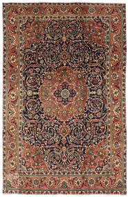 Tabriz Vloerkleed 196X308 Echt Oosters Handgeknoopt Donkerbruin/Donkergrijs (Wol, Perzië/Iran)