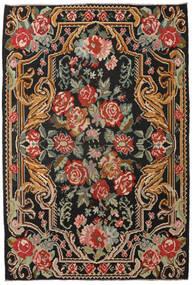 Rozenkelim Moldavia Vloerkleed 201X298 Echt Oosters Handgeweven Zwart/Donkerrood (Wol, Moldavië)