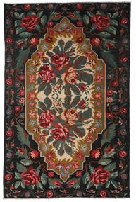 Rozenkelim Moldavia Vloerkleed 194X301 Echt Oosters Handgeweven Zwart/Donkergrijs (Wol, Moldavië)