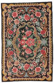 Rozenkelim Moldavia Vloerkleed 191X285 Echt Oosters Handgeweven Zwart/Donkergrijs (Wol, Moldavië)