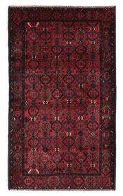 Beluch Vloerkleed 115X196 Echt Oosters Handgeknoopt Zwart/Donkerrood (Wol, Afghanistan)