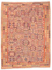 Kelim Afghan Old Style Vloerkleed 257X336 Echt Oosters Handgeweven Oranje/Beige Groot (Wol, Afghanistan)