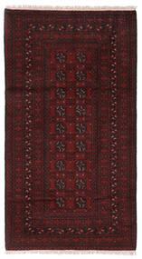 Afghan Vloerkleed 99X186 Echt Oosters Handgeknoopt Donkerbruin/Donkerrood (Wol, Afghanistan)