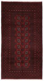 Afghan Vloerkleed 101X191 Echt Oosters Handgeknoopt Donkerrood (Wol, Afghanistan)