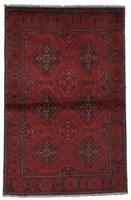 Afghan Khal Mohammadi Vloerkleed 94X145 Echt Oosters Handgeknoopt Donkerrood/Zwart (Wol, Afghanistan)