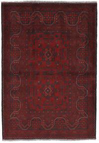 Afghan Khal Mohammadi Vloerkleed 105X150 Echt Oosters Handgeknoopt Donkerrood/Zwart (Wol, Afghanistan)