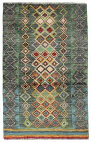 Moroccan Berber - Afghanistan Vloerkleed 89X135 Echt Modern Handgeknoopt Donkergroen/Donkergroen (Wol, Afghanistan)