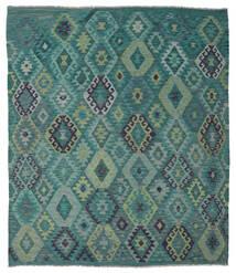 Kelim Afghan Old Style Vloerkleed 215X245 Echt Oosters Handgeweven Turquoise Blauw/Blauw (Wol, Afghanistan)
