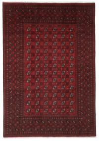 Afghan Vloerkleed 194X280 Echt Oosters Handgeknoopt Zwart (Wol, Afghanistan)
