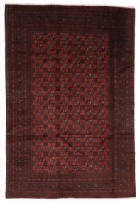 Afghan Vloerkleed 190X286 Echt Oosters Handgeknoopt Zwart/Beige (Wol, Afghanistan)