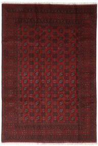 Afghan Vloerkleed 195X276 Echt Oosters Handgeknoopt Zwart (Wol, Afghanistan)