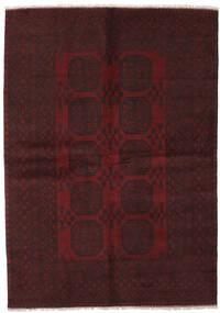 Afghan Vloerkleed 160X233 Echt Oosters Handgeknoopt Zwart (Wol, Afghanistan)