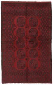 Afghan Vloerkleed 155X248 Echt Oosters Handgeknoopt Zwart/Donkerrood (Wol, Afghanistan)
