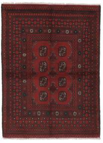 Afghan Vloerkleed 100X138 Echt Oosters Handgeknoopt Zwart (Wol, Afghanistan)