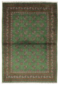Afghan Vloerkleed 105X150 Echt Oosters Handgeknoopt Zwart/Donkergroen (Wol, Afghanistan)