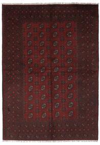 Afghan Vloerkleed 156X235 Echt Oosters Handgeknoopt Zwart (Wol, Afghanistan)