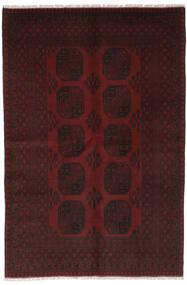 Afghan Vloerkleed 159X240 Echt Oosters Handgeknoopt Zwart (Wol, Afghanistan)