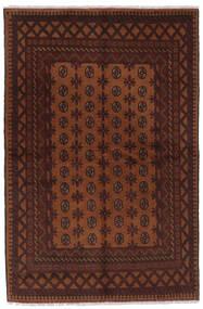 Afghan Vloerkleed 157X239 Echt Oosters Handgeknoopt Zwart/Donkerbruin (Wol, Afghanistan)
