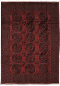 Afghan Vloerkleed 205X285 Echt Oosters Handgeknoopt Zwart (Wol, Afghanistan)