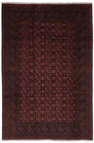 Afghan Vloerkleed 191X297 Echt Oosters Handgeknoopt Zwart (Wol, Afghanistan)