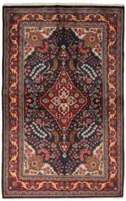 Golpayegan Vloerkleed 134X209 Echt Oosters Handgeknoopt Zwart/Donkerbruin (Wol, Perzië/Iran)