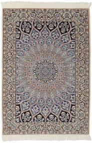 Nain 9La Vloerkleed 95X146 Echt Oosters Handgeknoopt Zwart/Donkerbruin (Wol/Zijde, Perzië/Iran)